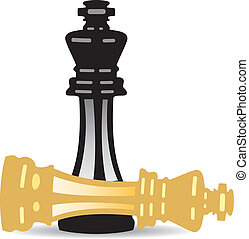 vector king checkmate - vector illustration of king...