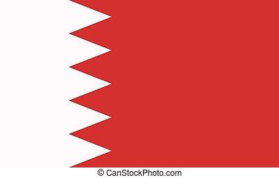 Vector Kingdom of Bahrain flag