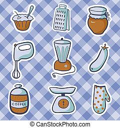 Vector kitchen food