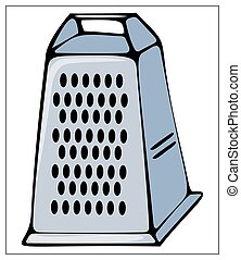 Vector kitchen grater isolated on a white background.