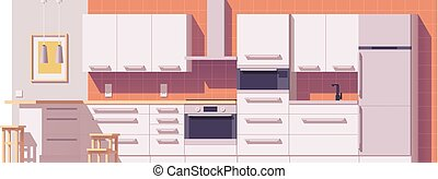 Vector kitchen illustration
