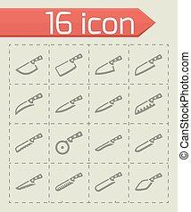 Vector Kitchen knife icon set