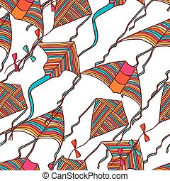 Vector kites for your design. Seamless pattern