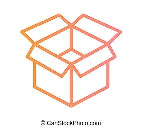 vector, kleurrijke, helling, cadeau, lint, lijn, pictogram