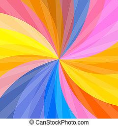vector, kleurrijke, retro, achtergrond, spiraal