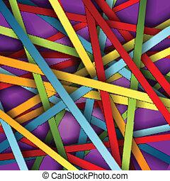 vector, kleurrijke, strepen, achtergrond