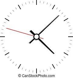 vector, klok, pictogram, gezicht