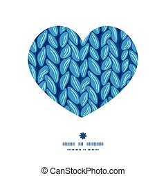 Vector knit sewater fabric horizontal texture heart...
