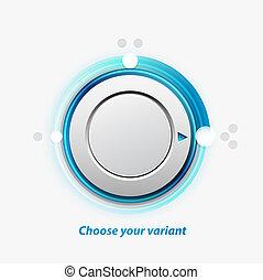 Vector knob switch