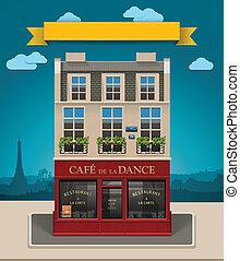 vector, koffiehuis, europeaan, pictogram, xxl