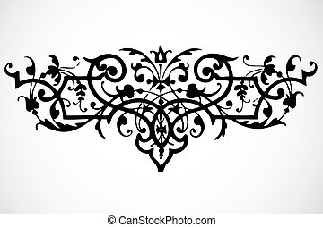 vector, kolken, ornament