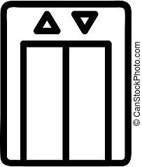 vector., kontur, symbol, illustration, ikon, hiss, isolerat
