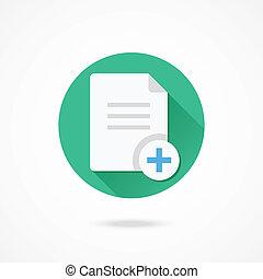 vector, kopie, document, pictogram