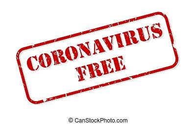 vector, kosteloos, postzegel, rubber, coronavirus