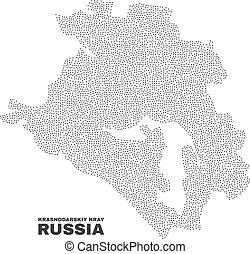 Vector Krasnodarskiy Kray Map of Points - Krasnodarskiy Kray...