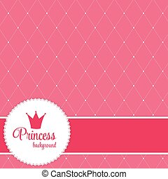 vector, kroon, prinsesje, achtergrond, illustration.