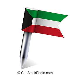 Vector Kuwait flag isolated on white. Eps10