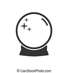 vector, línea, fortuna, magia, cristal, ilustración,...