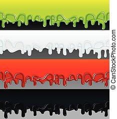 vector, líquido, banners., listo, para, texto, y, design.