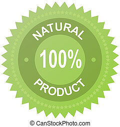 Vector label - 100% natural product