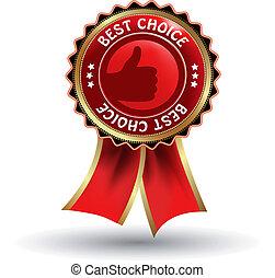 Vector label - best choice