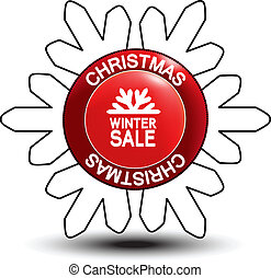 label - Christmas, winter sale