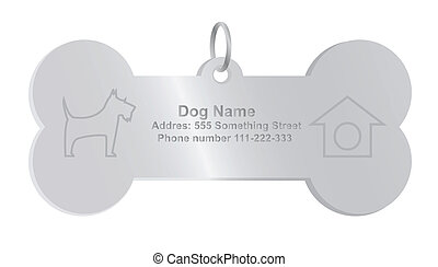 vector, label, dog, identiteit