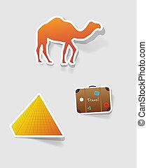 vector label for design - a set of design elements to...