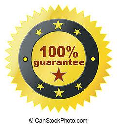 vector label for satisfaction guara
