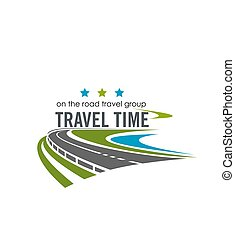 Vector label for travel company