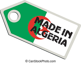 vector label Made in Algeria