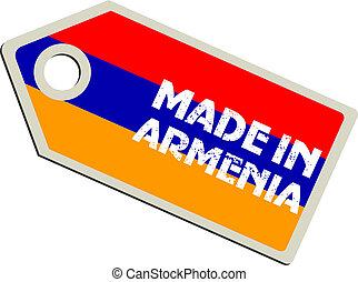 vector label Made in Armenia