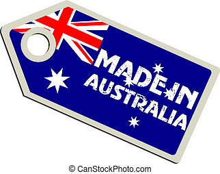 vector label Made in Australia