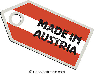 vector label Made in Austria