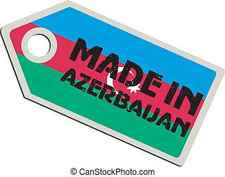 vector label Made in Azerbaijan
