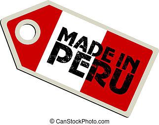 vector label Made in Peru