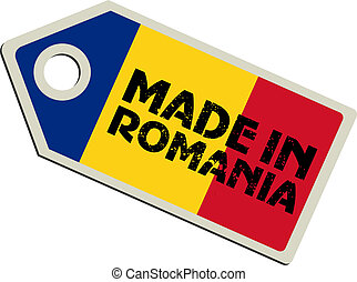 vector label Made in Romania