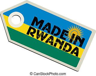 vector label Made in Rwanda