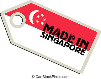 vector label Made in Singapore