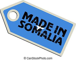 vector label Made in Somalia