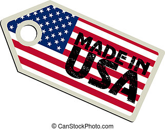 vector label Made in USA