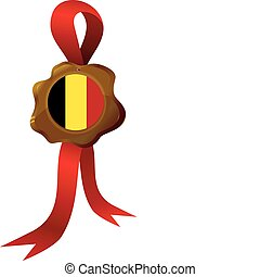 vector label  of Belgium