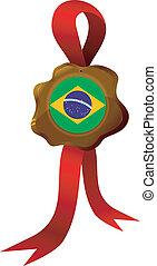vector label of Brazil