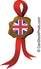 vector label of England - vector label with national symbols...