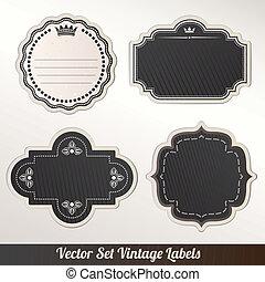 Vector label Set ornamental vintage