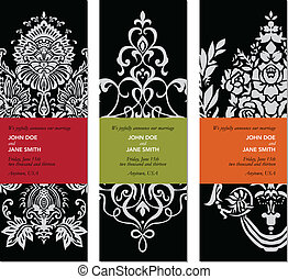 Vector Ornate Label Set. Easy to edit. Perfect for labels, invitations, or announcements.