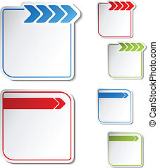 Vector labels with arrow