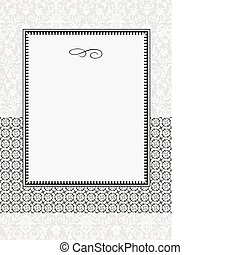 Vector Lace Pattern and Frame