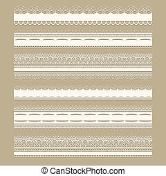 Vector Lacy Ribbons - Vector lacy vintage design elements,...