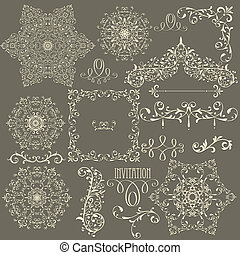 Vector Lacy Vintage Design Elements